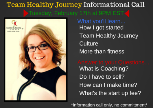 Team Healthy Journey  Informational Call